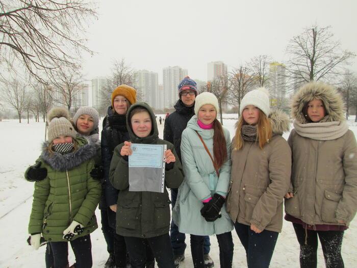 Соревнования по зимнему ориентированию